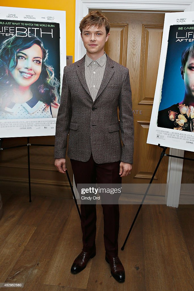 Actor <a gi-track='captionPersonalityLinkClicked' href=/galleries/search?phrase=Dane+DeHaan&family=editorial&specificpeople=6890481 ng-click='$event.stopPropagation()'>Dane DeHaan</a> attends the 'Life After Beth' New York Screening at Crosby Street Hotel on July 30, 2014 in New York City.