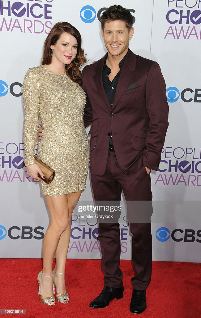 Actor Daneel Harris and her actor husband Jensen Ackles attend the 2013 People's Choice Awards Arrivals held at Nokia Theatre L.A. Live on January 9, 2013 in Los Angeles, California.