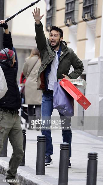 Actor Dani Martinez is seen during the set filming of a commercial on March 9 2016 in Madrid Spain