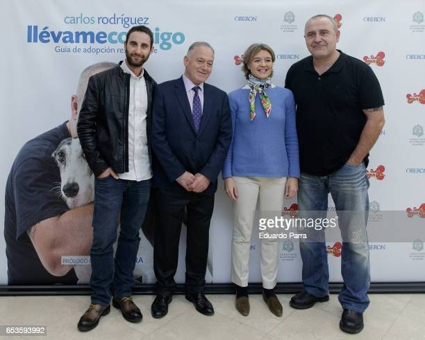 Actor Dani Rovira Felipe Villas Minister of agriculture Isabel Garcia Tejerina and Carlos Rodriguez presents the book 'Lllevame contigo' at...