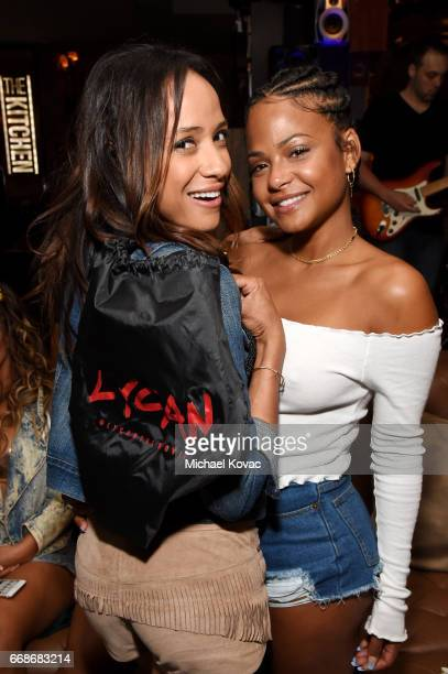 Actor Dania Ramirez and Christina Milian celebrate a Toast to Summer with the NEW Limited Edition CIROC Summer Colada at the Hard Rock Hotel Palm...