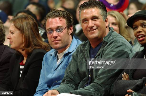 Actor Daniel Baldwin attends the game between the Toronto Raptors and Indiana Pacers April 7 2004 at the Air Canada Centre in Toronto Canada NOTE TO...