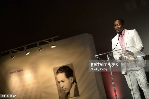 Actor Daniel Beaty receives the Superstar Storyteller Awards at AIDS Healthcare Foundation iNHale Entertainment Partner To Host 'INside | OUTside...