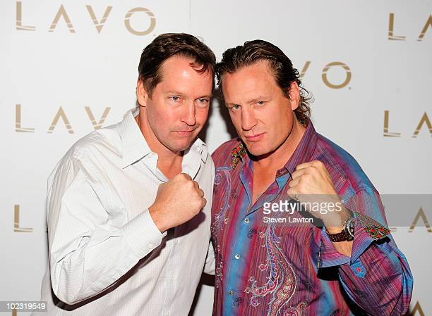 Actor Daniel Bernard Sweeney and NHL player Jeremy Roenick arrive to host pre NHL Awards at Lavo on June 22 2010 in Las Vegas Nevada