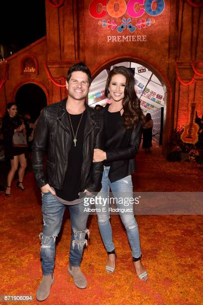 Actor Daniel Booko and Miss USA 2014 Nia Sanchez at the US Premiere of DisneyPixar's 'Coco' at the El Capitan Theatre on November 8 in Hollywood...