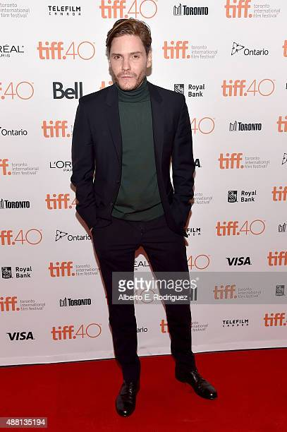 Actor Daniel Brühl attends the 'Colonia' premiere during the 2015 Toronto International Film Festival at the Princess of Wales Theatre on September...