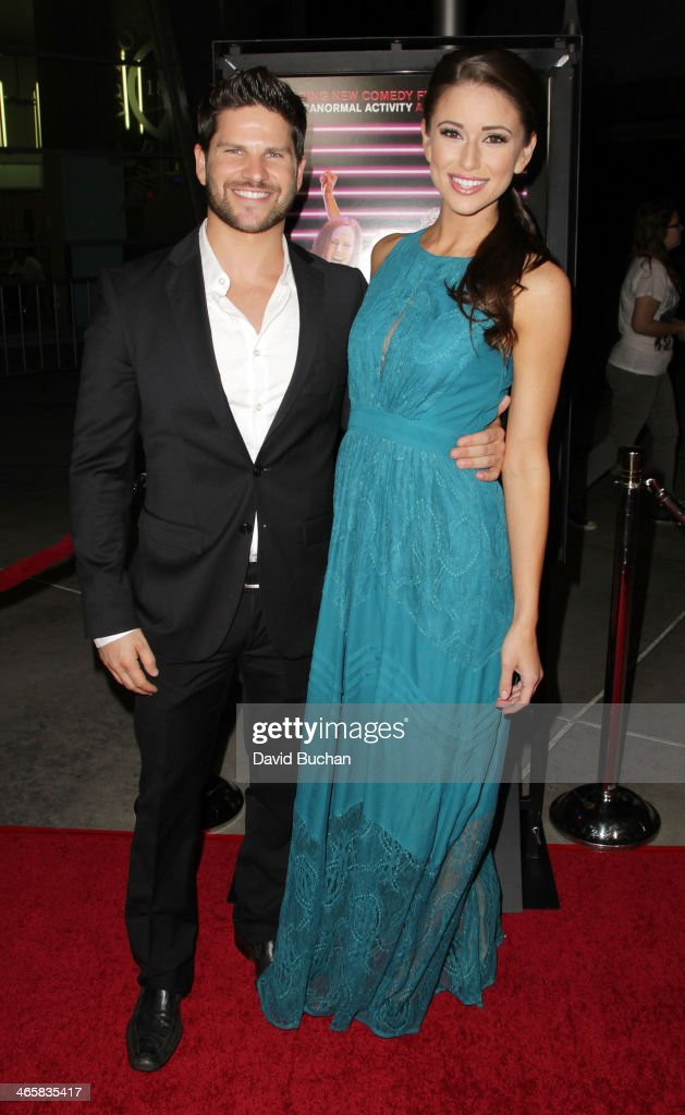 Actor Daniel Brooko (L) and model Nia Sanchez attend the Premiere Of Magnet's 'Best Night Ever' at ArcLight Cinemas on January 29, 2014 in Hollywood, California.