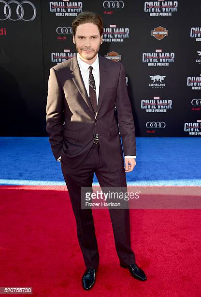 Actor Daniel Bruhl attends the premiere of Marvel's 'Captain America Civil War' at Dolby Theatre on April 12 2016 in Los Angeles California