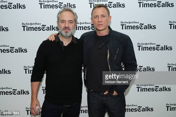 Actor Daniel Craig and director Sam Mendes attend the 'Times Talks Presents Spectre An Evening With Daniel Craig And Sam Mendes' at The New School on...