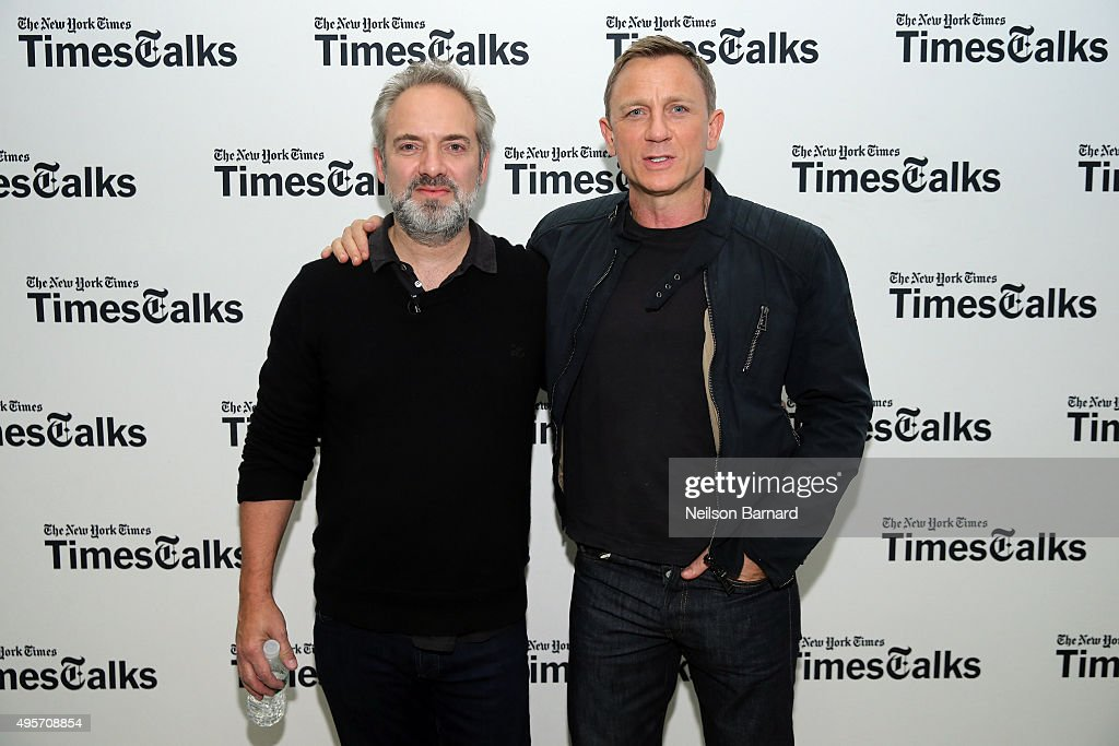 Actor Daniel Craig and director Sam Mendes attend the 'Times Talks Presents: Spectre, An Evening With Daniel Craig And Sam Mendes' event at The New School on November 4, 2015 in New York City.