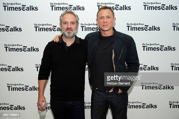 Actor Daniel Craig and director Sam Mendes attend the 'Times Talks Presents Spectre An Evening With Daniel Craig And Sam Mendes' event at The New...