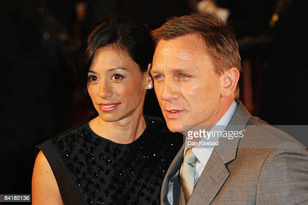 Actor Daniel Craig and girlfriend Satsuki Mitchell arrive at the European Premiere of 'Defiance' at the Odeon West End cinema Leicester Square on...