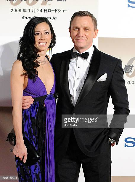 Actor Daniel Craig and partner Satsuki Mitchell attend the 'Quantum of Solace' Japan Premiere at Roppongi Hills on November 25 2008 in Tokyo Japan...