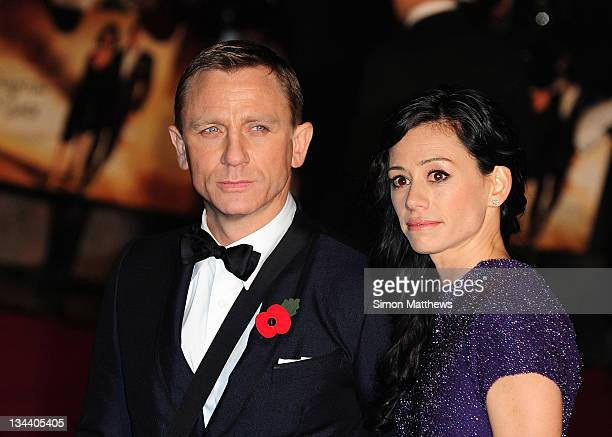 Actor Daniel Craig and producer Satsuki Mitchell attend the Royal Premiere of Quantum of Solace in Leicester Square October 29 2008 in London England