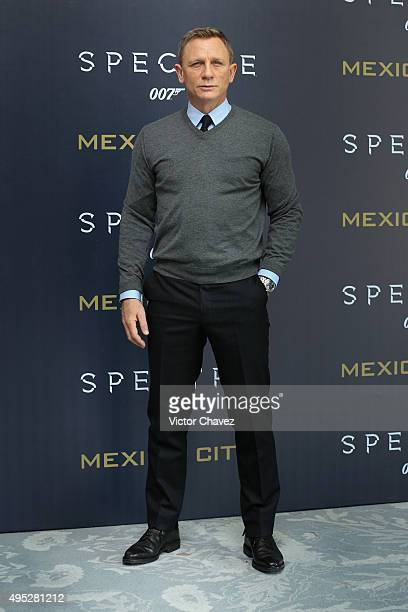 Actor Daniel Craig attends a photo call to promote the new film 'Spectre' on November 1 2015 in Mexico City Mexico