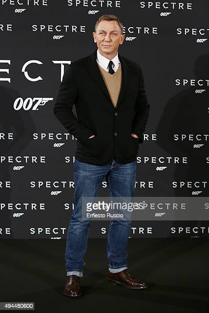 Actor Daniel Craig attends a photocall for 'Spectre' at Hotel St Regis on October 27 2015 in Rome Italy