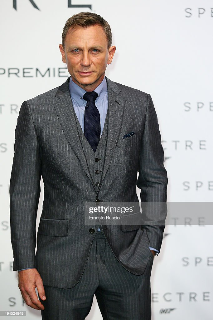 Actor <a gi-track='captionPersonalityLinkClicked' href=/galleries/search?phrase=Daniel+Craig+-+Actor&family=editorial&specificpeople=12323550 ng-click='$event.stopPropagation()'>Daniel Craig</a> attends a premiere for 'Spectre' at Auditorium Della Conciliazione on October 27, 2015 in Rome, Italy.