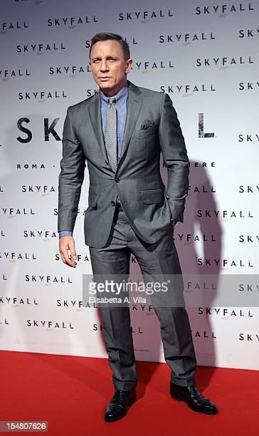 Actor Daniel Craig attends 'Skyfall' Rome Premiere at Warner Cinema Moderno on October 26 2012 in Rome Italy