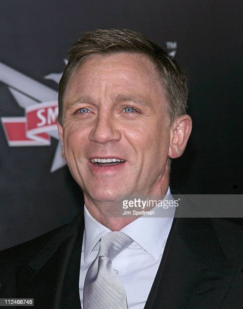 Actor Daniel Craig attends the 2008 Tribeca Film Institute Fall Benefit screening of 'Quantum of Solace' at the AMC Lincoln Square theatre on...