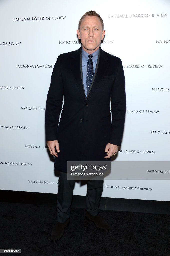 Actor Daniel Craig attends the 2013 National Board Of Review Awards Gala at Cipriani 42nd Street on January 8, 2013 in New York City.