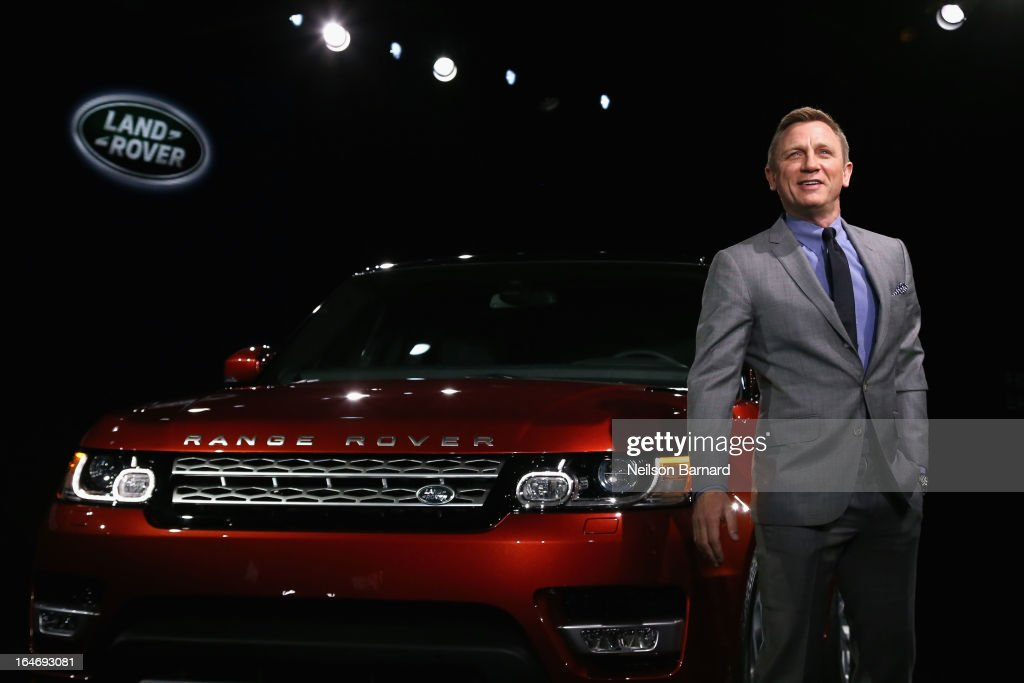 Actor Daniel Craig attends the all-new Range Rover Sport reveal on March 26, 2013 in New York City.