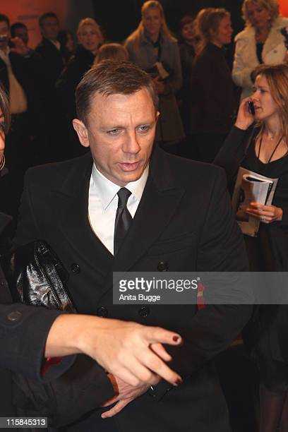 Actor Daniel Craig attends the Berlin premiere of 'Quantum of Solace' on November 3 2008 in Berlin Germany