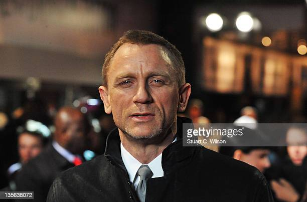 Actor Daniel Craig attends the world premiere of 'The Girl With The Dragon Tattoo' at Odeon Leicester Square on December 12 2011 in London England