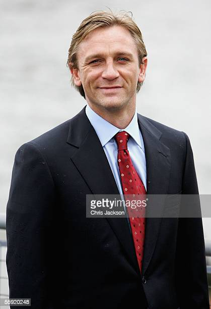 Actor Daniel Craig is unveiled as the new actor to play the legendary British secret agent James Bond 007 in the 21st Bond film Casino Royale at HMS...