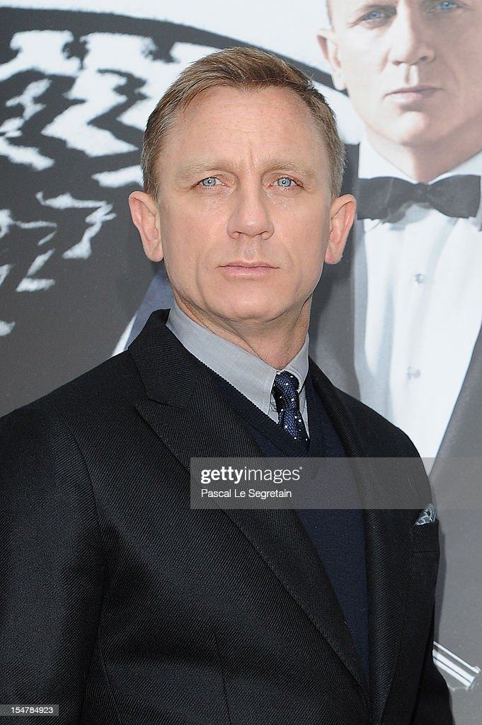 Actor Daniel Craig poses during a photocall for the film 'Skyfall' at Hotel George V on October 25, 2012 in Paris, France.