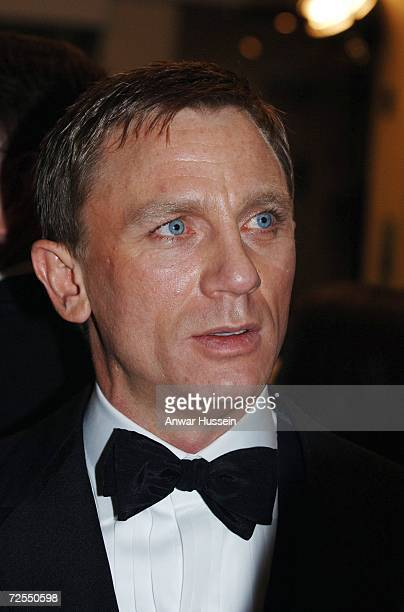 Actor Daniel Craig the new James Bond attends the Royal Premiere for the 21st Bond film 'Casino Royale' at the Odeon Leicester Square on November 14...