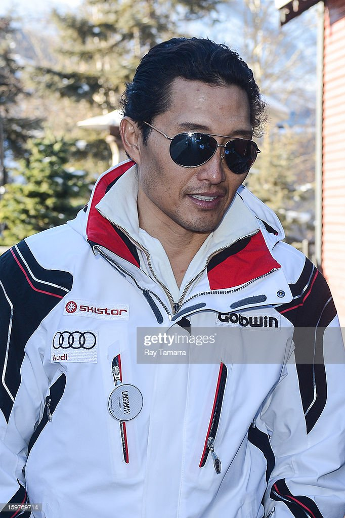 Actor Daniel Dae Kim walks in Park City on January 19, 2013 in Park City, Utah.