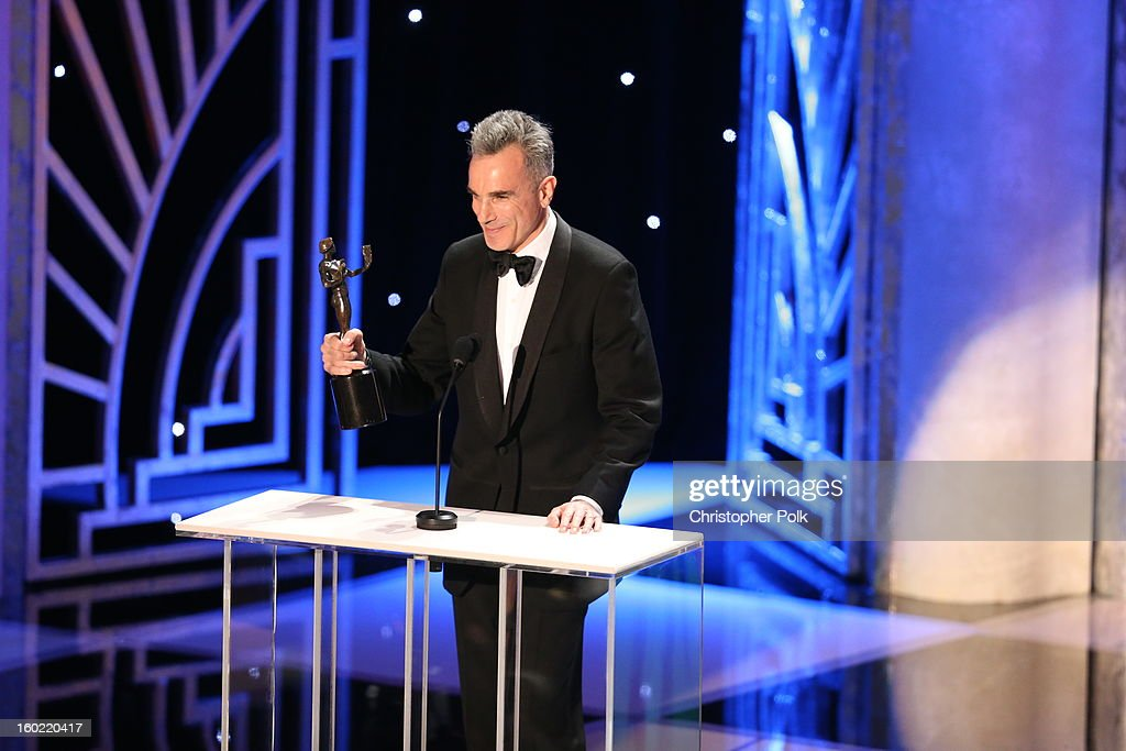 Actor Daniel Day Lewis speaks at the 19th Annual Screen Actors Guild Awards at The Shrine Auditorium on January 27, 2013 in Los Angeles, California. (Photo by Christopher Polk/WireImage) 23116_012_2076.JPG