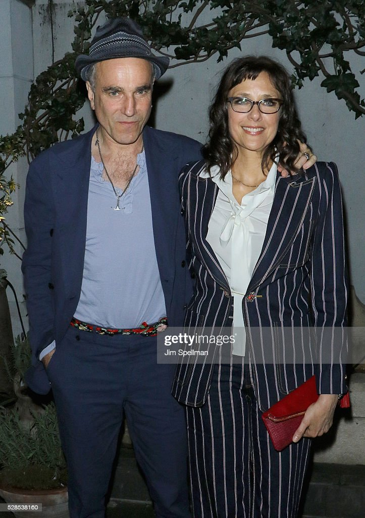 Actor <a gi-track='captionPersonalityLinkClicked' href=/galleries/search?phrase=Daniel+Day-Lewis&family=editorial&specificpeople=211475 ng-click='$event.stopPropagation()'>Daniel Day-Lewis</a> and director <a gi-track='captionPersonalityLinkClicked' href=/galleries/search?phrase=Rebecca+Miller&family=editorial&specificpeople=213307 ng-click='$event.stopPropagation()'>Rebecca Miller</a> attend the after party for the screening of Sony Pictures Classics' 'Maggie's Plan' hosted by Montblanc and The Cinema Society with Mastro Dobel & Kim Crawford Wines at Laduree Soho on May 5, 2016 in New York City.