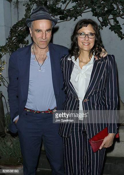 Actor Daniel DayLewis and director Rebecca Miller attend the after party for the screening of Sony Pictures Classics' 'Maggie's Plan' hosted by...