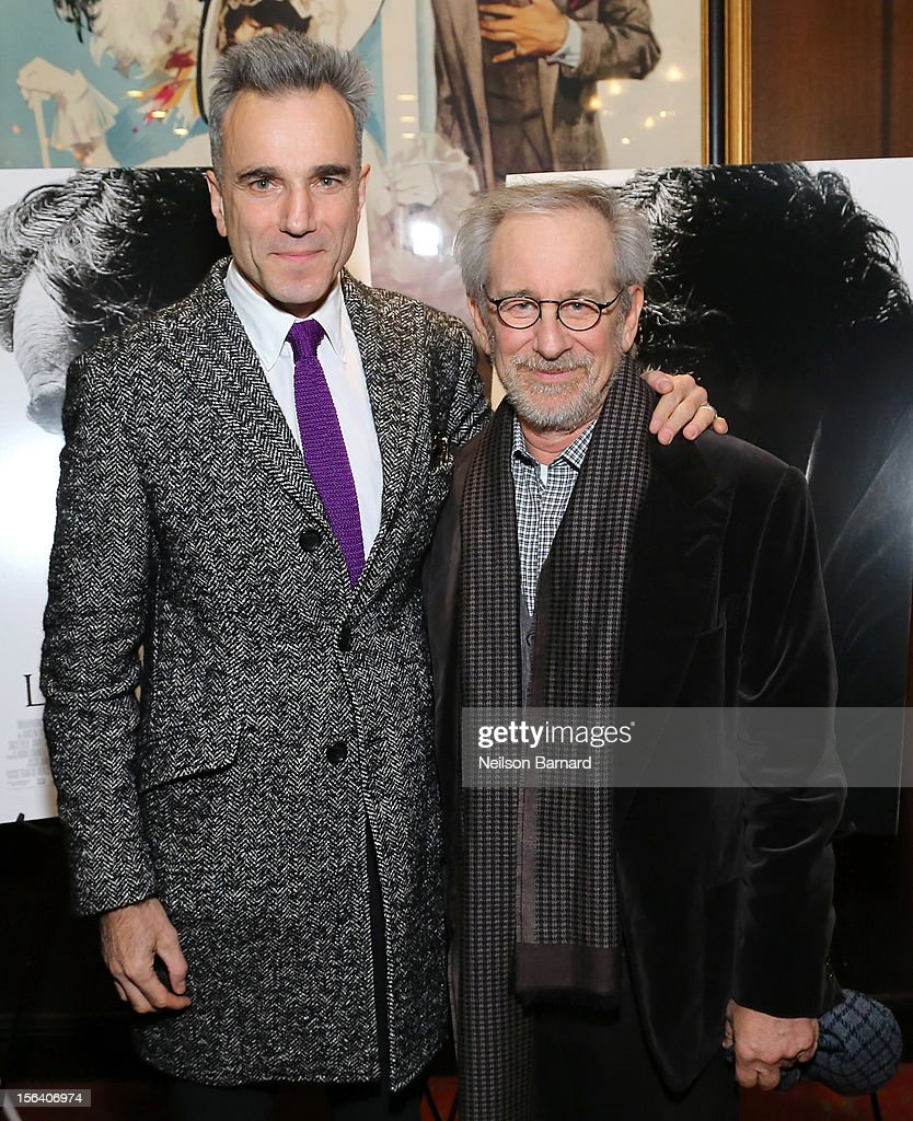 Actor Daniel Day-Lewis and director Steven Spielberg attend the special screening of Steven Spielberg's Lincoln at the Ziegfeld Theatre on November 14, 2012 in New York City.