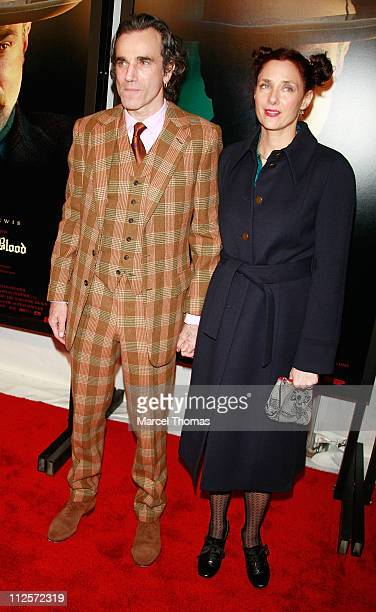 Actor Daniel DayLewis and his wife director Rebecca Miller arrive at Paramount Vantage Presents The Premiere Of 'There Will Be Blood' at the Ziegfeld...