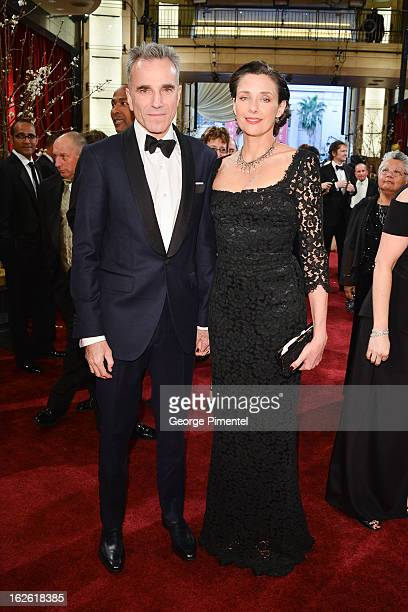 Actor Daniel DayLewis and Rebecca Miller arrive at the Oscars at Hollywood Highland Center on February 24 2013 in Hollywood California at Hollywood...