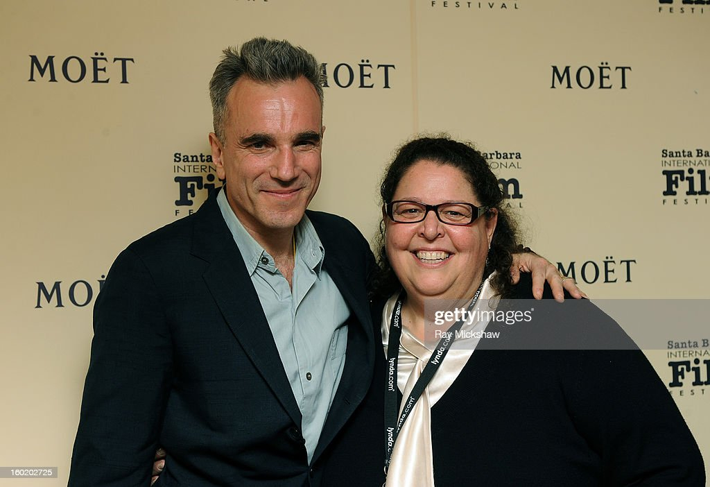 Actor Daniel Day-Lewis and SBIFF Publicist Carol Marshall attends the 28th Santa Barbara International Film Festival Montecito Award on January 26, 2013 in Santa Barbara, California.