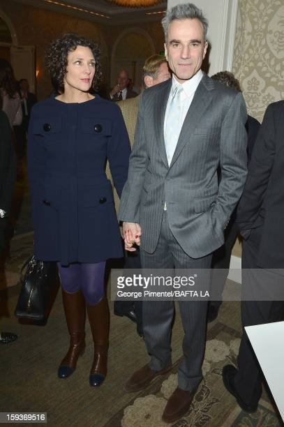 Actor Daniel DayLewis and wife Rebecca Miller arrive at the BAFTA Los Angeles 2013 Awards Season Tea Party held at the Four Seasons Hotel Los Angeles...