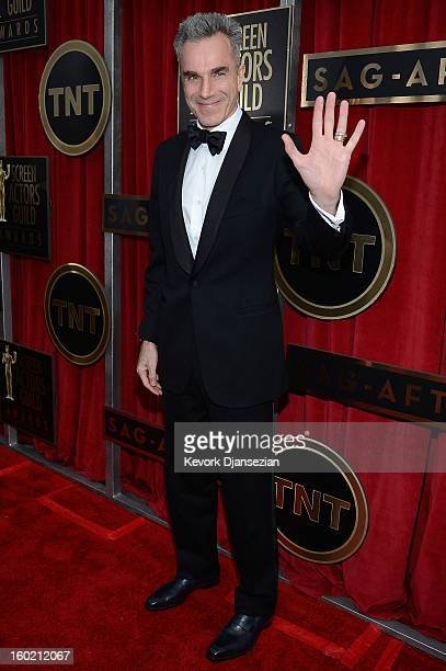 Actor Daniel DayLewis arrives at the 19th Annual Screen Actors Guild Awards held at The Shrine Auditorium on January 27 2013 in Los Angeles California