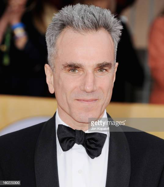 Actor Daniel DayLewis arrives at the 19th Annual Screen Actors Guild Awards at The Shrine Auditorium on January 27 2013 in Los Angeles California