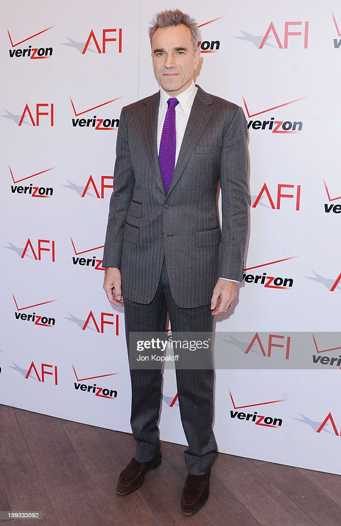 Actor Daniel Day-Lewis arrives at the 2012 AFI Awards Luncheon on January 11, 2013 in Beverly Hills, California.