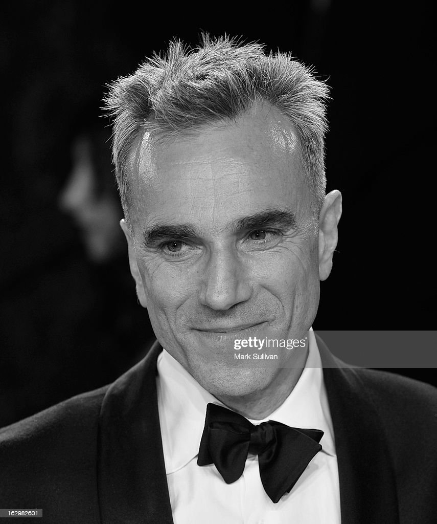 Actor Daniel Day-Lewis arrives at the 2013 Vanity Fair Oscar Party at Sunset Tower on February 24, 2013 in West Hollywood, California.