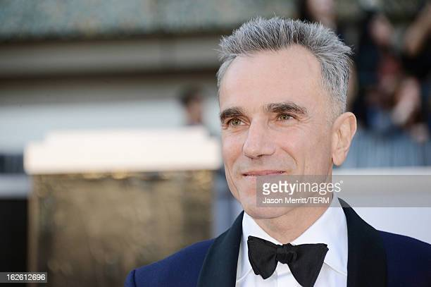Actor Daniel DayLewis arrives at the Oscars at Hollywood Highland Center on February 24 2013 in Hollywood California