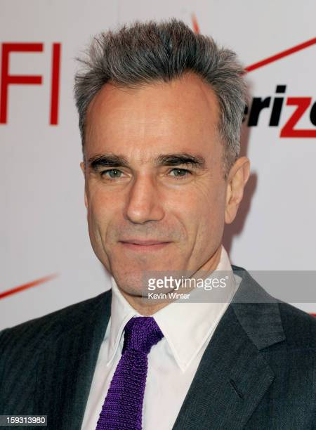 Actor Daniel DayLewis attends the 13th Annual AFI Awards at Four Seasons Los Angeles at Beverly Hills on January 11 2013 in Beverly Hills California