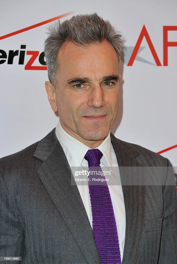 Actor <a gi-track='captionPersonalityLinkClicked' href=/galleries/search?phrase=Daniel+Day-Lewis&family=editorial&specificpeople=211475 ng-click='$event.stopPropagation()'>Daniel Day-Lewis</a> attends the 13th Annual AFI Awards at Four Seasons Los Angeles at Beverly Hills on January 11, 2013 in Beverly Hills, California.