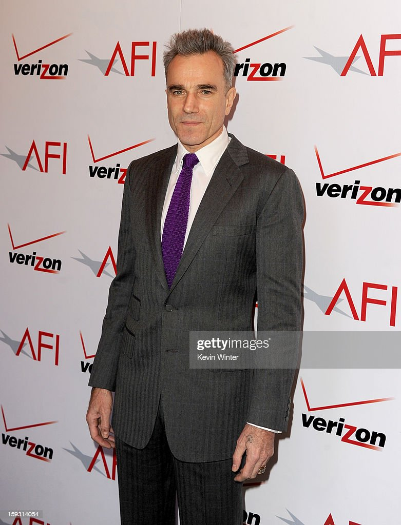 Actor Daniel Day-Lewis attends the 13th Annual AFI Awards at Four Seasons Los Angeles at Beverly Hills on January 11, 2013 in Beverly Hills, California.