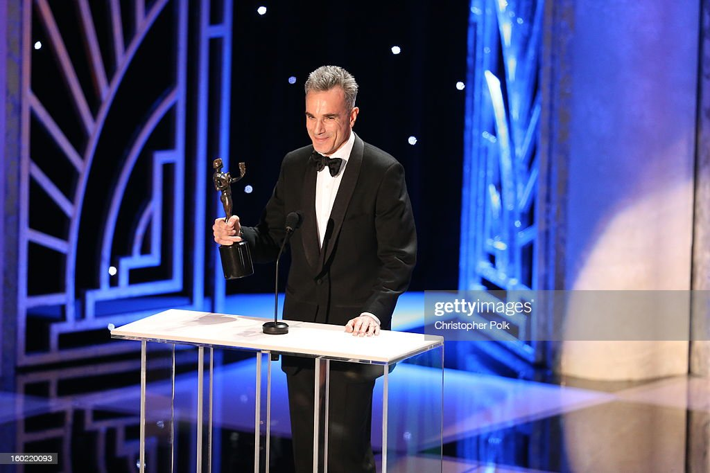 Actor <a gi-track='captionPersonalityLinkClicked' href=/galleries/search?phrase=Daniel+Day-Lewis&family=editorial&specificpeople=211475 ng-click='$event.stopPropagation()'>Daniel Day-Lewis</a> attends the 19th Annual Screen Actors Guild Awards at The Shrine Auditorium on January 27, 2013 in Los Angeles, California. (Photo by Christopher Polk/WireImage) 23116_012_2078.JPG