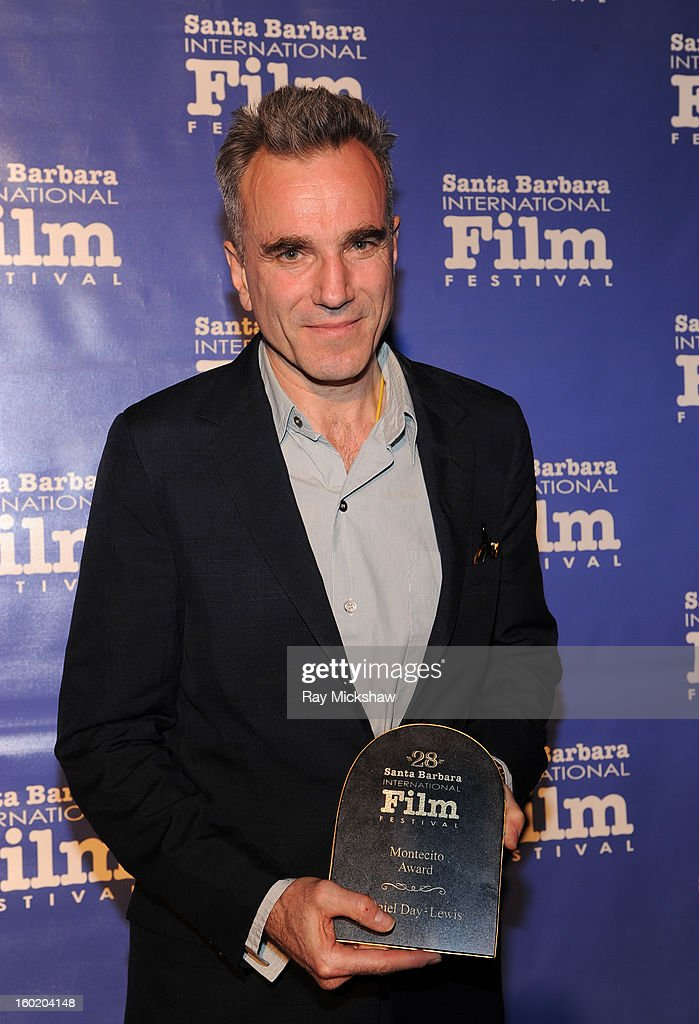 Actor <a gi-track='captionPersonalityLinkClicked' href=/galleries/search?phrase=Daniel+Day-Lewis&family=editorial&specificpeople=211475 ng-click='$event.stopPropagation()'>Daniel Day-Lewis</a> attends the 28th Santa Barbara International Film Festival Montecito Award on January 26, 2013 in Santa Barbara, California.