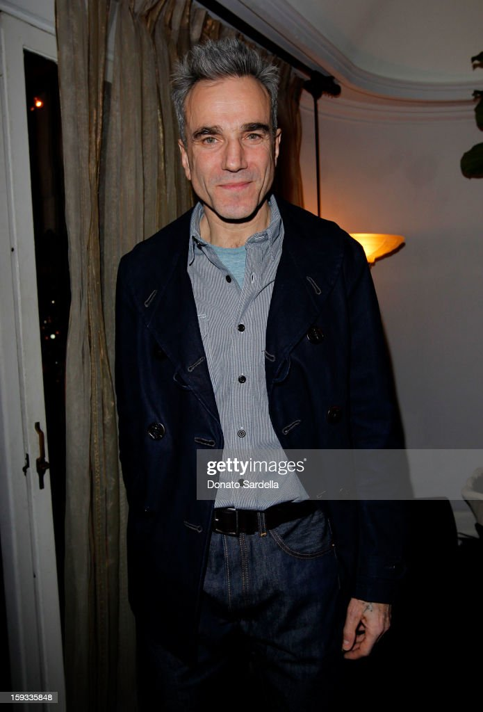 """Actor <a gi-track='captionPersonalityLinkClicked' href=/galleries/search?phrase=Daniel+Day-Lewis&family=editorial&specificpeople=211475 ng-click='$event.stopPropagation()'>Daniel Day-Lewis</a> attends W Magazine's 'Best Performances Issue"""" and the Golden Globe Awards celebration with W Magazine, Cadillac and Dom Pérignon at Chateau Marmont on January 11, 2013 in Los Angeles, California."""
